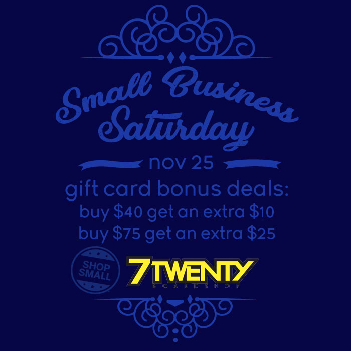 7Twenty Small Biz Saturday 2017 Gift Card Deals