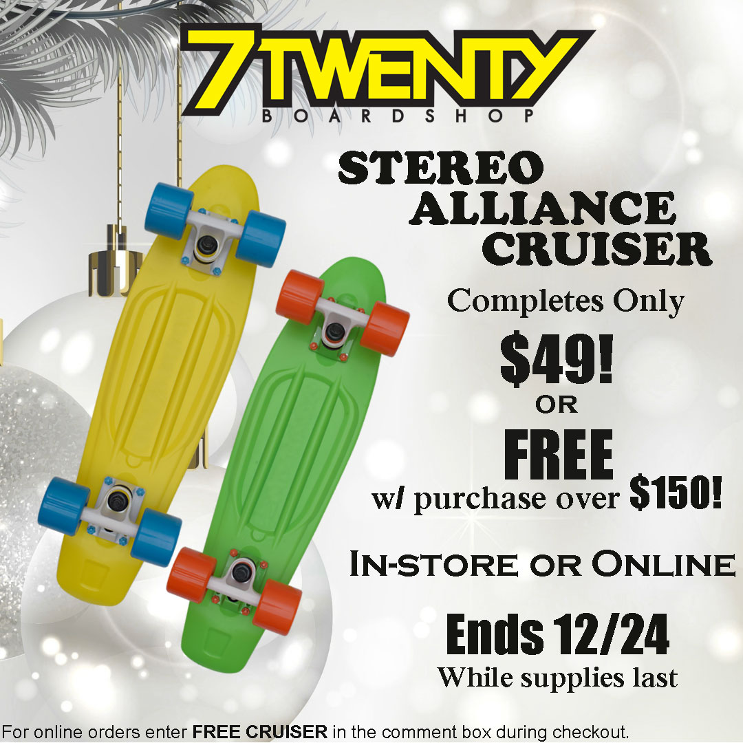 Stereo Alliance Skateboard Cruiser Completes on Sale for only $49!