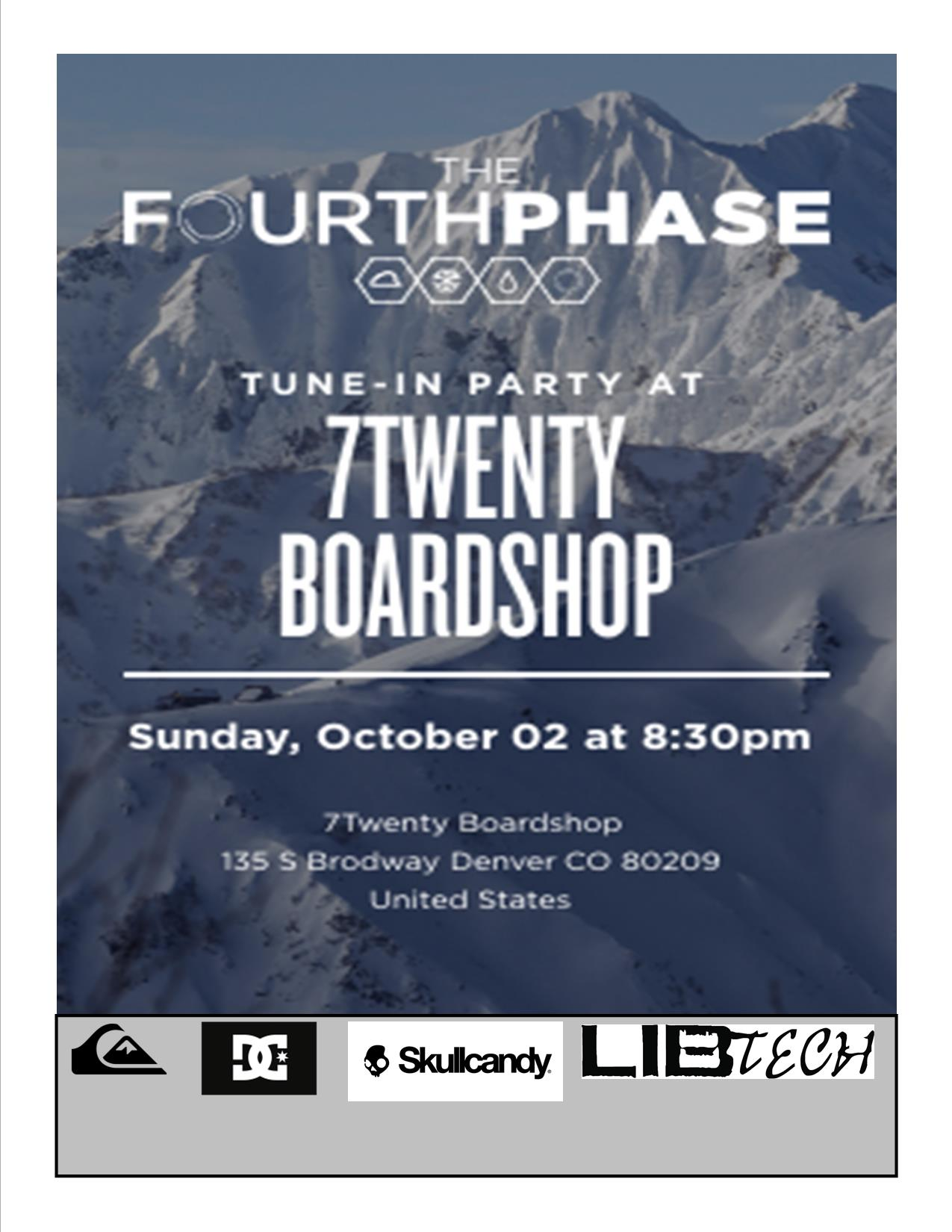 Red Bull and BrainFarm's The Fourth Phase video screening at 7Twenty Boardshop Sunday october 2nd
