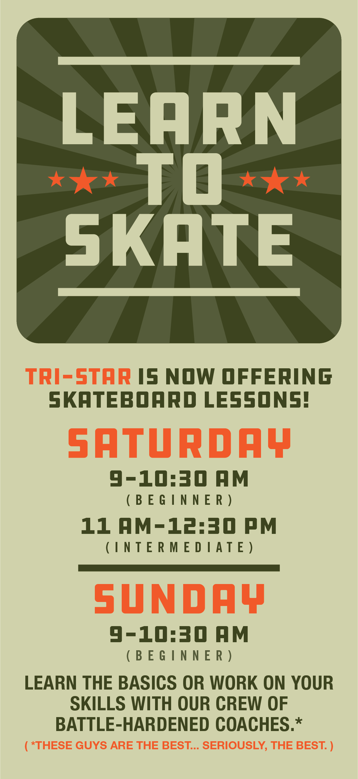 Lessons at Cleveland's Tri Star indoor Skatepark